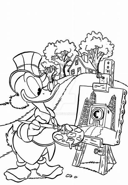 Scrooge Uncle Money Painting Bin Deviantart Deviant