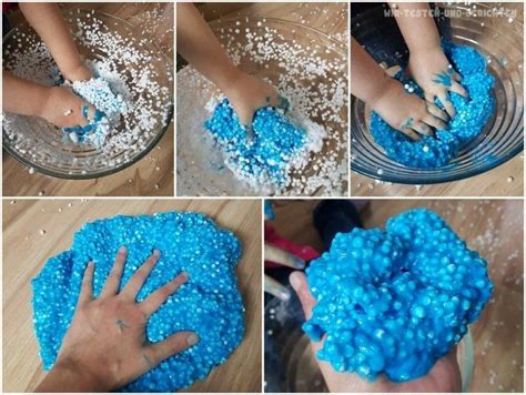 galaxy schleim rezept diy slime perlenschleim floam selber machen rezept basteln schleim selber machen