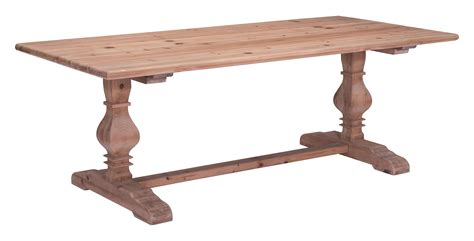 Zuo Modern Norfolk Solid Fir Wood Dining Table Natural