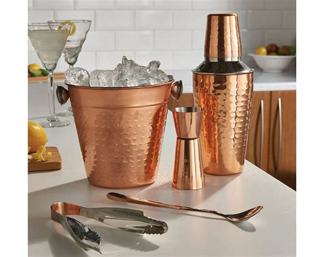 pcs copper cocktail shaker gift set mixer making home