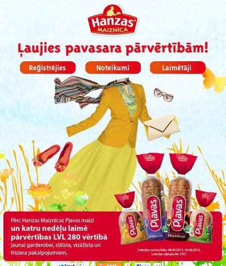 Loterija - Ļaujies pavasara pārvērtībām! - Hanzas Maiznīca