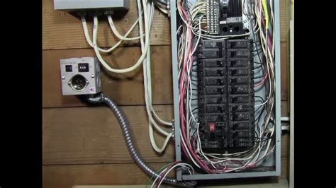 Breaker Panel Box Wiring Diagram by Ricksdiy How To Wire Generator Transfer Switch To A