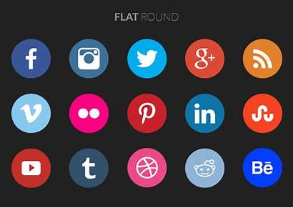 Social Icons Round Animated Format Polygon Popular