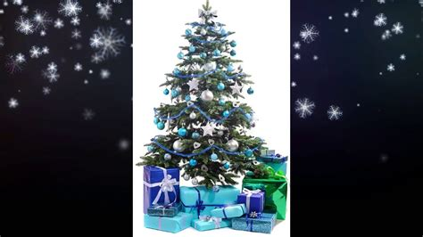 christmas tree decoration ideas blue  silver