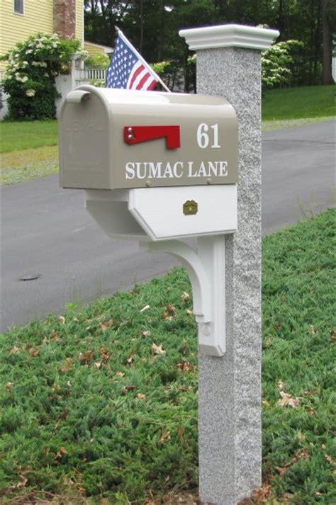 granite mailbox post mailbox newspaper brace post cap