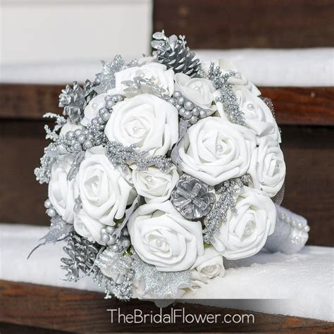 Silver And Gray Wedding Bouquets Wedding ~ Silver And Gray