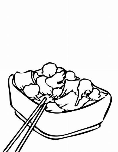 Chinese Clipart Coloring Healthy Pages Clip Drawing