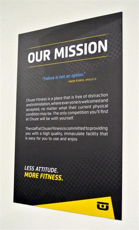 chuze fitness mission statement wall poster fastsigns