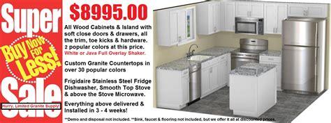 white shaker kitchen cabinets sale 8995 complete kitchen remodels under 10k chandler az
