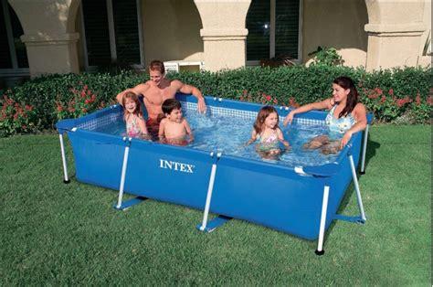 intex pool aufbauanleitung intex swimming pool family frame 300x200x75cm 28272