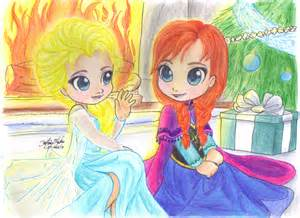 Anna and Elsa From Frozen Chibi