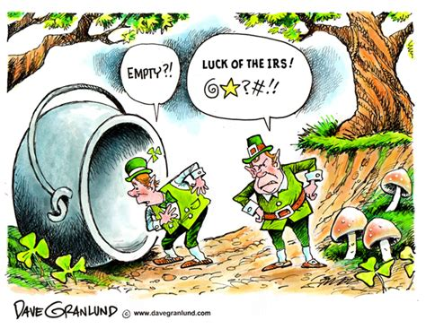 Dave Granlund  Editorial Cartoons And Illustrations » Luck Of The Irs