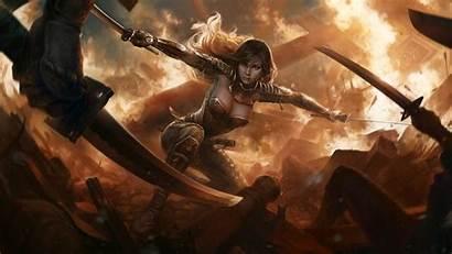 Warrior Wallpapers Fantasy Female Swords Anime Wallpapersafari
