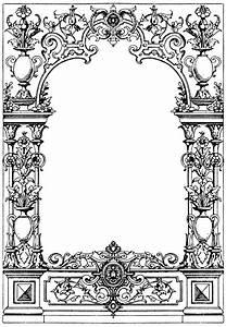 Border Typographical Frame   ClipArt ETC  Border