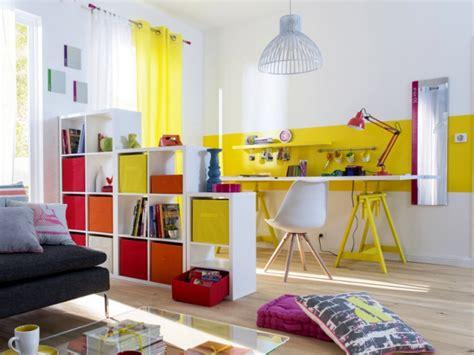 espace bureau dans salon petits espaces dix séparations légères pour créer un