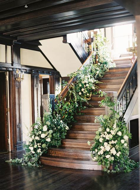 stair garland ideas 30 absolutely amazing greenery wedding ideas for 2016