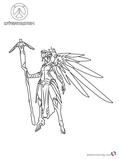 mercy  overwatch coloring pages  printable