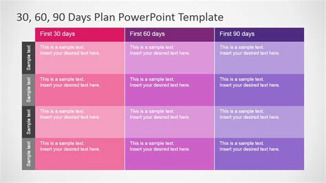 days plan powerpoint template slidemodel