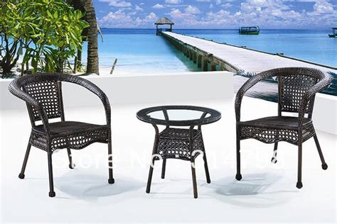 outdoor wicker furniture sets include one coffee table and