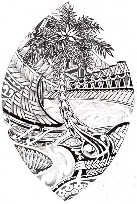 guam tribal seal coloring page island style chicano