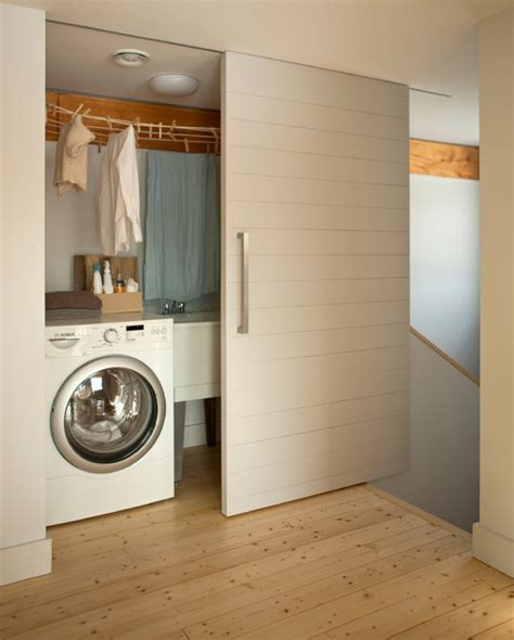Closet To Closet Bath Maine by The Go Home Passive House Contemporary Laundry Room