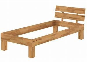 Bett 1 60 : einzelbett jugendbett 90x200 buchebett natur massivholz bettgestell ohne zubeh r or ~ Watch28wear.com Haus und Dekorationen