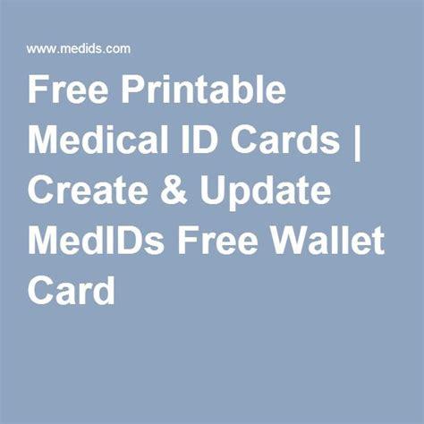 printable medical id cards create update medids