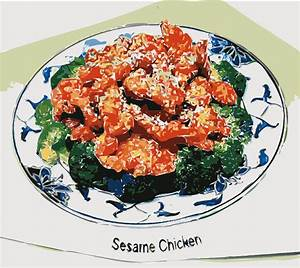 Clipart - Sesame Chicken