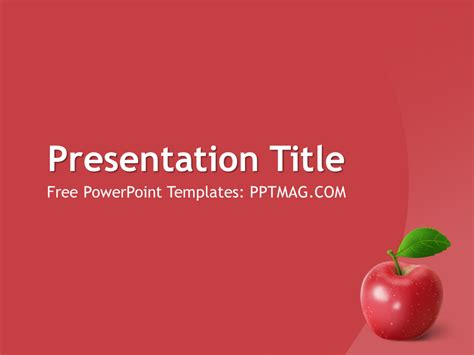 apple fruit powerpoint template pptmag