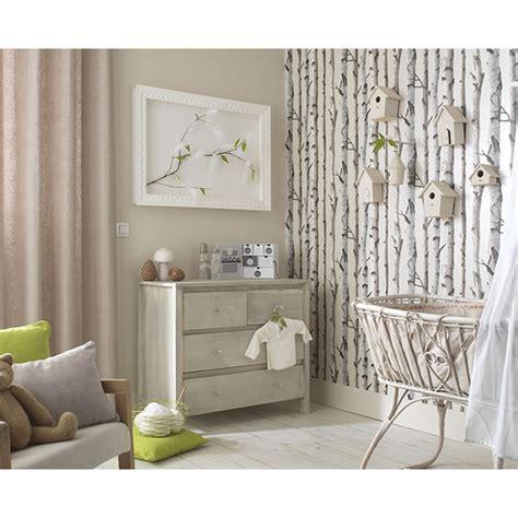 castorama papier peint chambre papier peint bouleau beige nacré castorama chambre