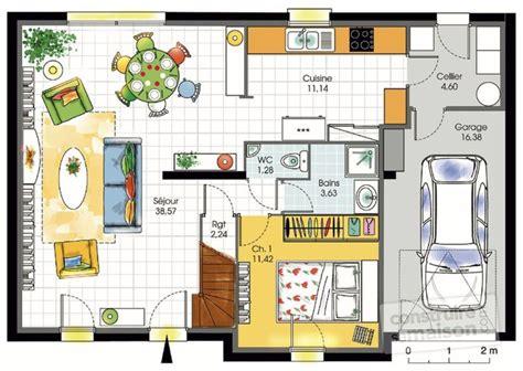 du bruit dans la cuisine maison contemporaine 7 dé du plan de maison