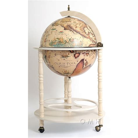 Liquor Cabinet Globe - globe wine liquor cabinet with stand antique white ebay