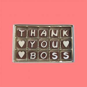 Thank You Note For A Gift From Boss Thank You Boss Cubic Chocolate Letter Gift By What Candy