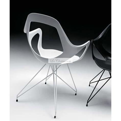 fauteuil cuir bureau chaise design dafne avec pied tour eiffel par metalmobil