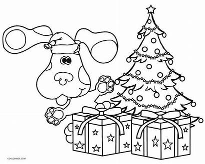 Clues Coloring Pages Blues Notebook Christmas Printable