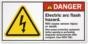 arc flash labels With arc flash hazard sticker