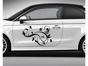 Flowers and Butterflies Car Stickers, Custom Graphic Decal ...