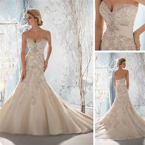 alibaba real champagne colored mermaid wedding dresses With champagne colored wedding dress