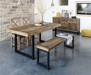 Brooklyn, Industrial, Extending, Dining, Table, Reclaimed, Solid, Wooden, 180cm