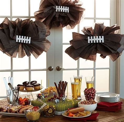 20 diy football decorations for a tailgate tablescape - Football Decorations