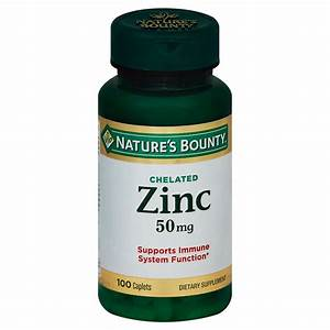 Nature U0026 39 S Bounty Zinc 50 Mg Caplets