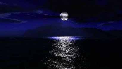 Moon Night Ocean Sea Wallpapers Stars Beach