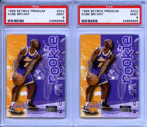 Both #p52 and #p266 are collectible but his #p52 is much more valuable due to it being part of the base set. Lot Detail - 1996 Skybox Premium #203 Kobe Bryant RC Rookie Card Pair Both Graded PSA 9 Mint
