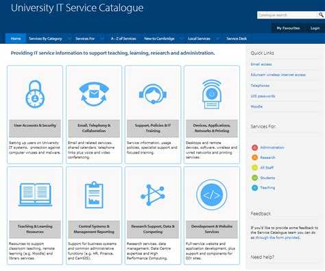 It Service Catalogue — School Of Arts And Humanities