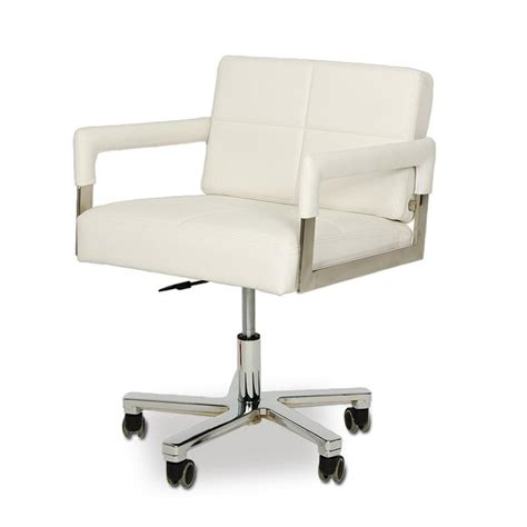 modern leather desk chair vig modrest alaska modern white leather office chair