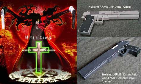 Hellsing Papercraft Guns