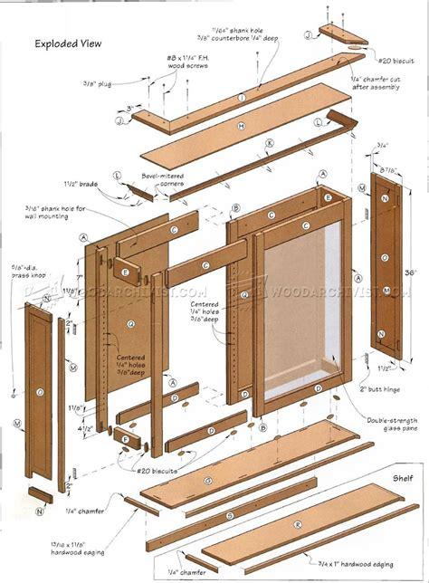 display case plans woodarchivist
