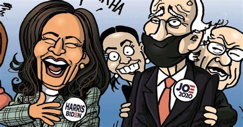 hilarious cartoon scorches biden harris  pelosi