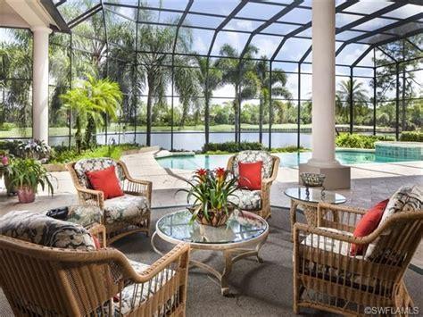 tropical screened lanai outdoor living pool columns