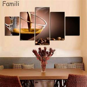 Hd printed modern wine bottle painting wall picture for for Best brand of paint for kitchen cabinets with coco chanel canvas wall art